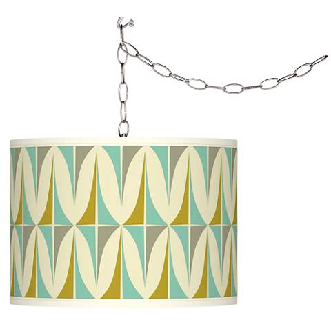 Swag Style Vernaculis I Giclee Shade Plug-In Chandelier
