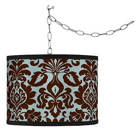 Swag Style Kiwi Tini Florence Shade Plug-In Chandelier