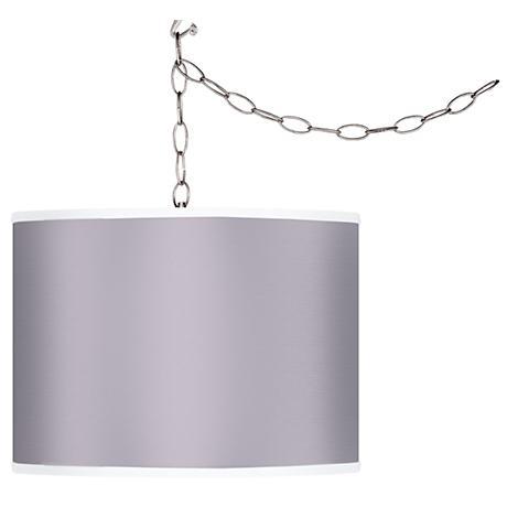 Grape Mist Giclee Swag Style Plug-In Chandelier