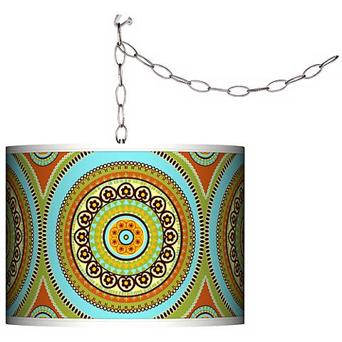 Stacy Garcia Arno Mosaic Daybreak Plug-In Swag Chandelier
