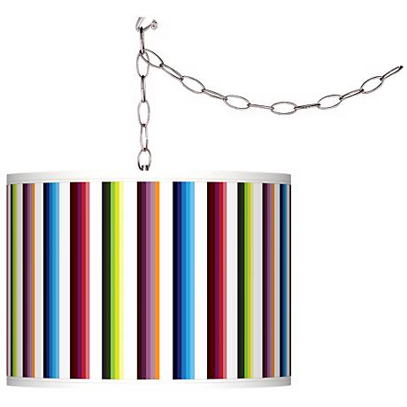 Technocolors Giclee Swag Style Plug-In Chandelier