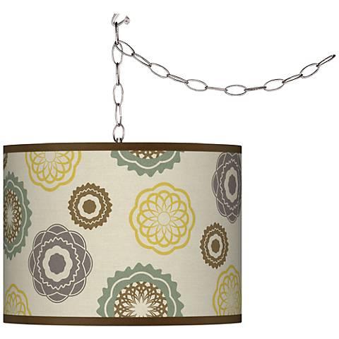 Ornaments Linen Plug-In Swag Chandelier
