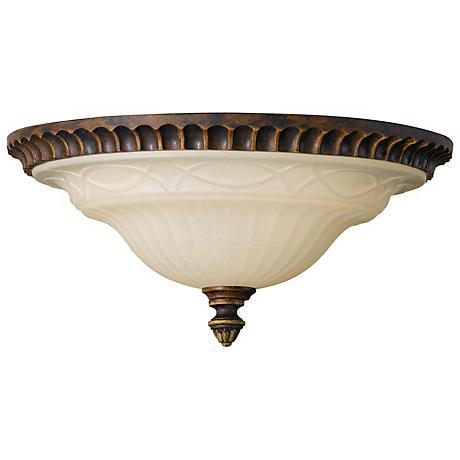 "Feiss Edwardian 13"" Diameter Flushmount Ceiling Fixture"