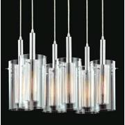 Sonneman Zylinder 6-Light Modern Pendant Chandelier
