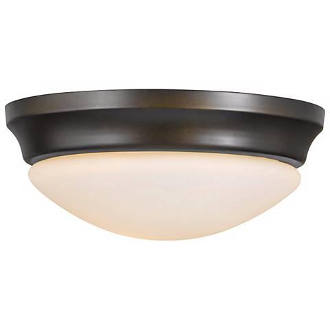 "Barrington 10"" Diameter Bronze Flushmount Ceiling Fixture"