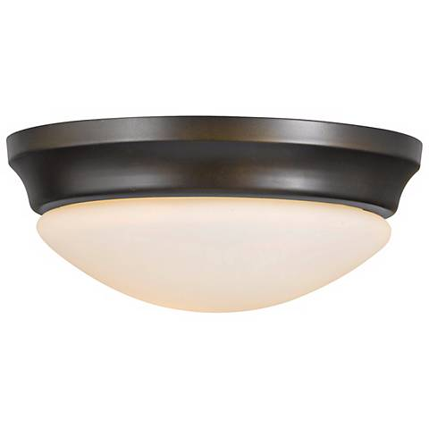 "Barrington 14"" Diameter Bronze Flushmount Ceiling Fixture"