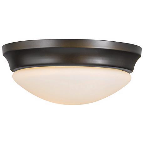 "Feiss Barrington 16 1/2"" Bronze Flushmount Ceiling Fixture"