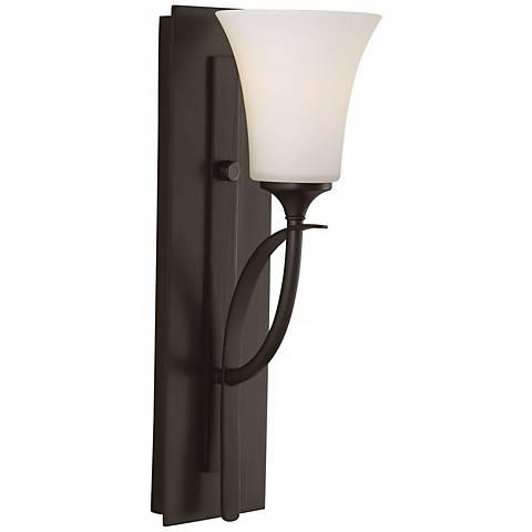 """Feiss Barrington 16"""" High Bronze One Light Wall Sconce"""