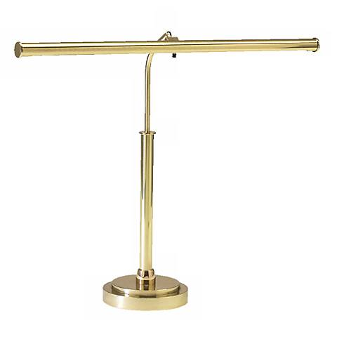 LED Piano Lamp in Polished Brass Finish