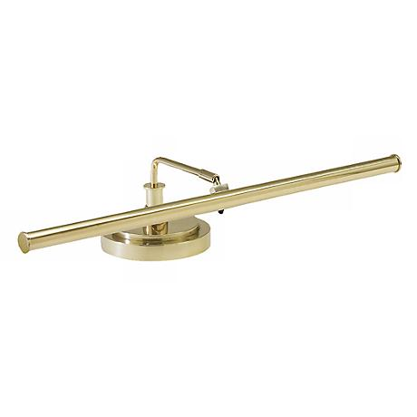 """LED 4"""" High Piano Lamp in Polished Brass Finish"""