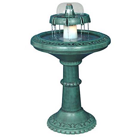 Decorative Lighted Birdbath Fountain