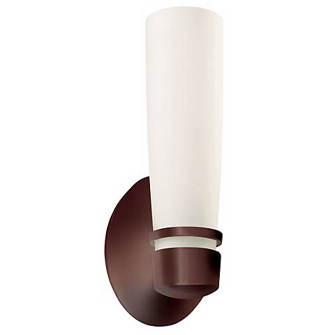 "Aria 11"" High Fluorescent Bronze Outdoor Wall Sconce"