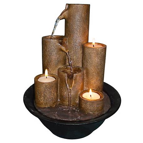 Three Candles Tabletop Candle Fountain
