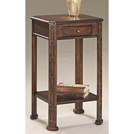 """Plantation Cherry 26 1/2"""" High Accent Table"""