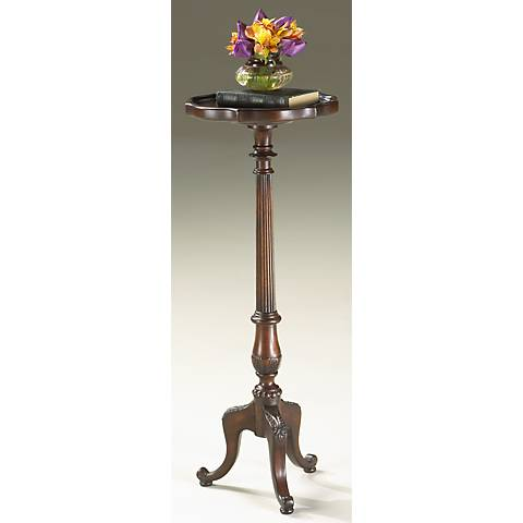 "Plantation Cherry Pedestal 36 1/2"" High  Plant Stand"