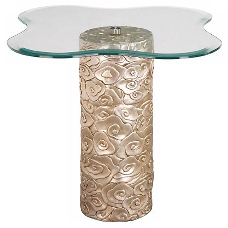 Floral Base Mini Accent Table