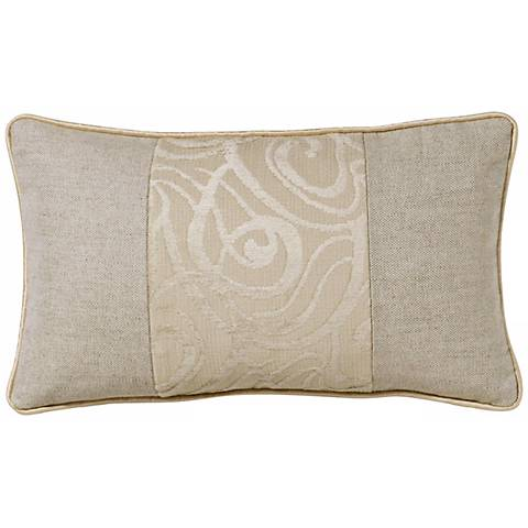 Cream Babylon Swirl Patchwork Rectangular Pillow