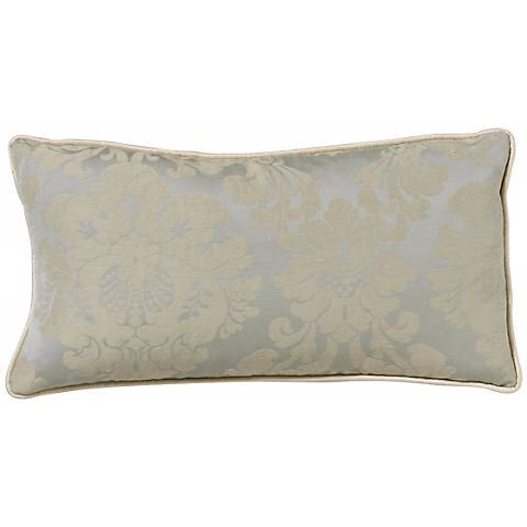 Light Blue Damask Rectangular Pillow