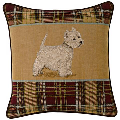 "West Highland Terrier 19"" Square Pillow"