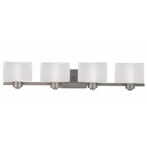 """Pacifica Collection 33 1/2"""" Wide Four Light Bathroom Fixture"""