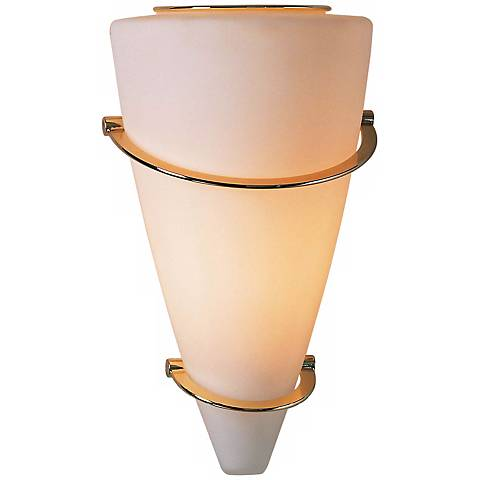 "Holtkoetter Satin White 11 ½"" High Cone Wall Sconce"