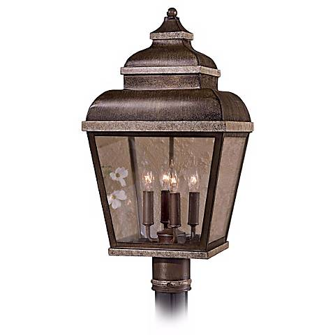 """Mossoro Collection 23 1/2"""" High Outdoor Post Mounted Light"""