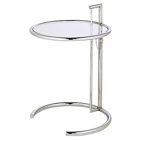 Eileen Grey Chrome and Glass Accent Table