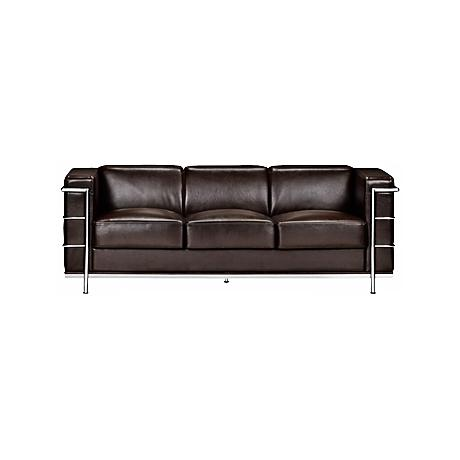 Zuo Fortress Collection Espresso Leather Sofa