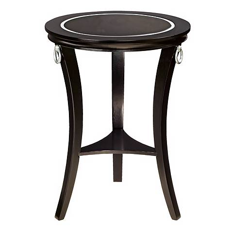 Black Painted Glass Inset Accent Table