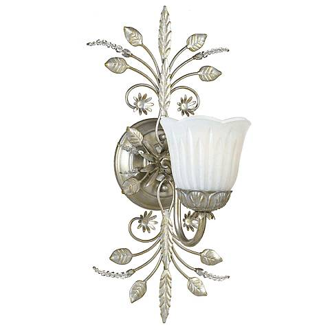 Primrose Collection Silver One Light Wall Sconce