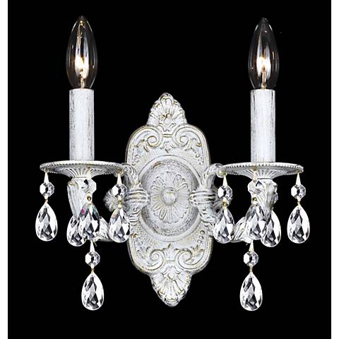 Sutton Collection Antique White Two Light Wall Sconce