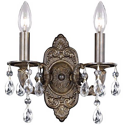 """Sutton Collection Bronze 11"""" High Two Light Wall Sconce"""