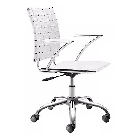 Zuo Criss Cross White Adjustable Office Chair