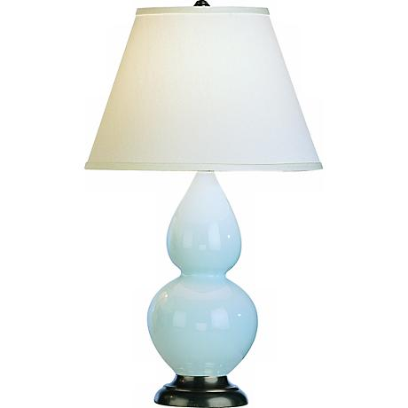 abbey 22 3 4 light blue ceramic table lamp g6582 lamps plus. Black Bedroom Furniture Sets. Home Design Ideas