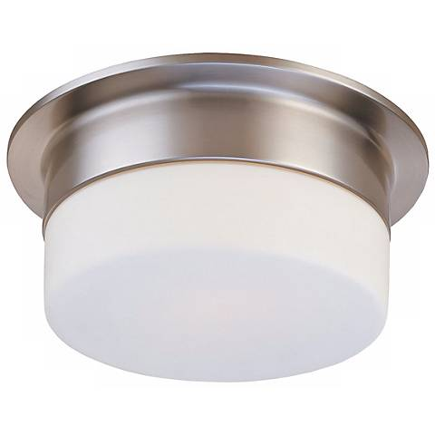 "Sonneman Flange 9"" Satin Nickel Ceiling Light Fixture"