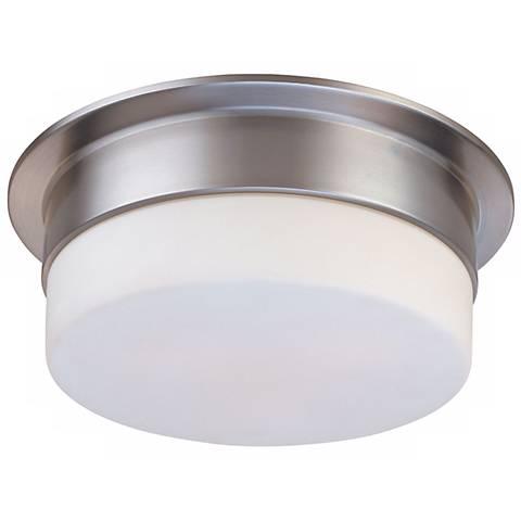 """Sonneman Flange 12"""" Satin Nickel Ceiling Light Fixture"""