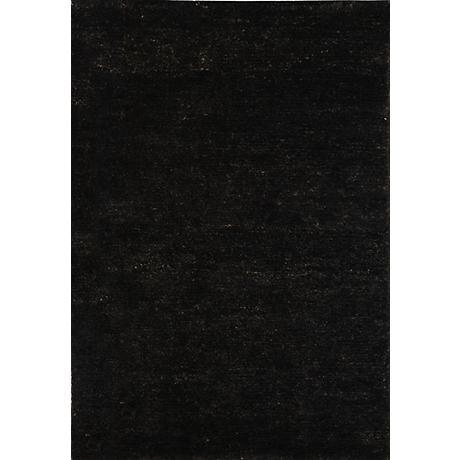 Bohemian Black Eco-Friendly Jute Area Rug