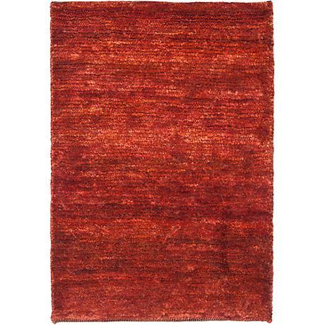 Bohemian Red Eco-Friendly Jute Area Rug