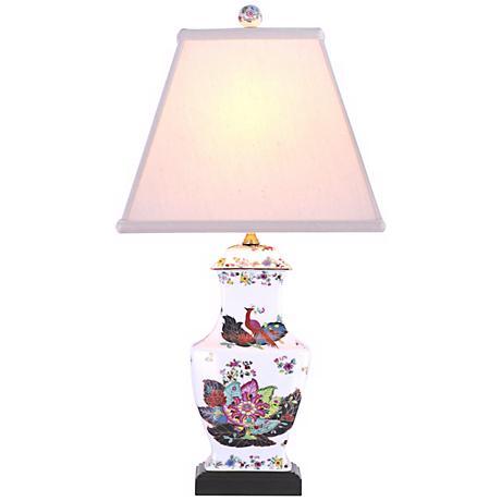 Peacock Garden Porcelain Vase Table Lamp G6970 Lamps Plus