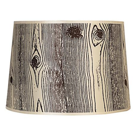 Lights Up! Faux Bois Light Lamp Shade 14x16x11 (Spider)