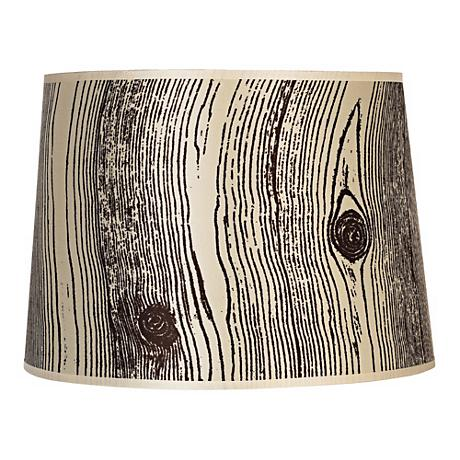Lights Up! Faux Bois Light Lamp Shade 12x14x10 (Spider)