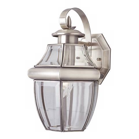 "Acorn Brushed Nickel 13"" High Lantern Outdoor Light"