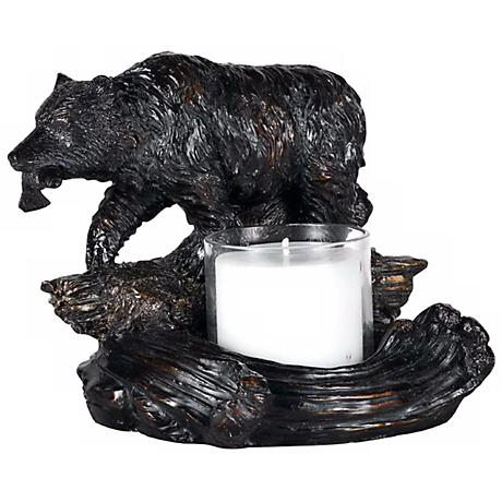 Bear with Fish Candleholder