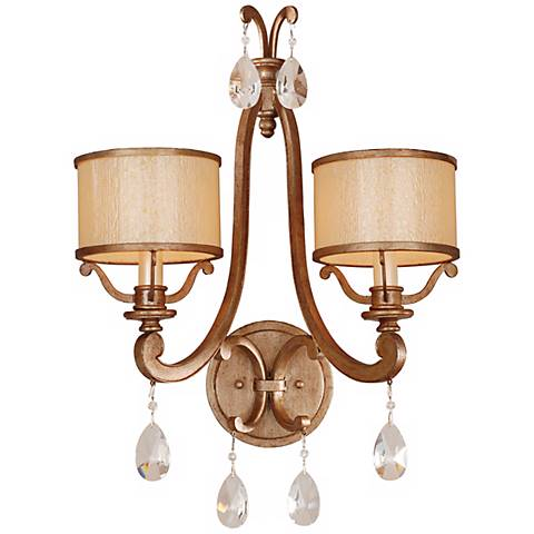 roma collection 20 1 2 high 2 light wall sconce g8986 lamps plus. Black Bedroom Furniture Sets. Home Design Ideas