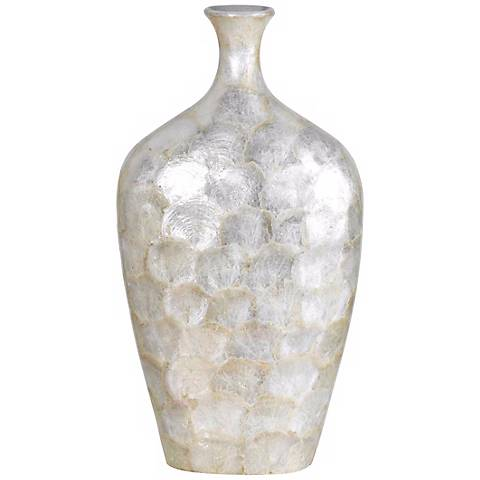 "Opalescent Seashell 18 1/2"" High Vase"