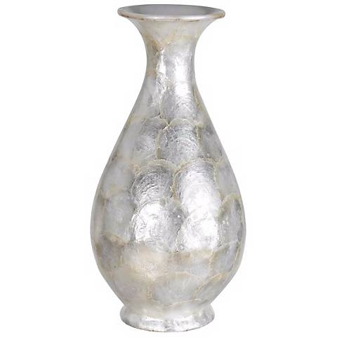 "Opalescent Seashell 16"" High Vase"