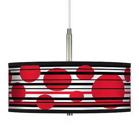 Red Balls Giclee Pendant Chandelier