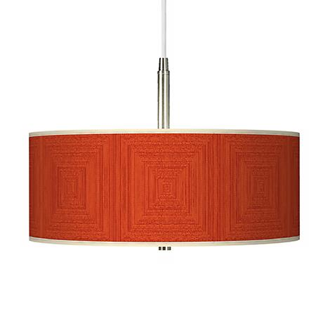 Stacy Garcia Crackled Square Coral Giclee Pendant Chandelier