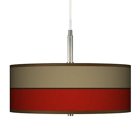 Empire Red Giclee Pendant Chandelier