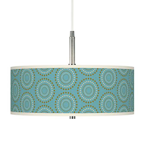 Blue Calliope Giclee Pendant Chandelier
